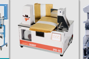 portable, heat seal, benchtop banding machine for labelling and taping