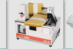 Banding Machine for Paper or Film, Benchtop/Tabletop, Portable, for Labelling, Taping, Bundling